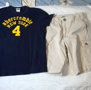NWOT 16 BOYS ABERCROMBIE T-SHIRT SHORTS Bundle lot